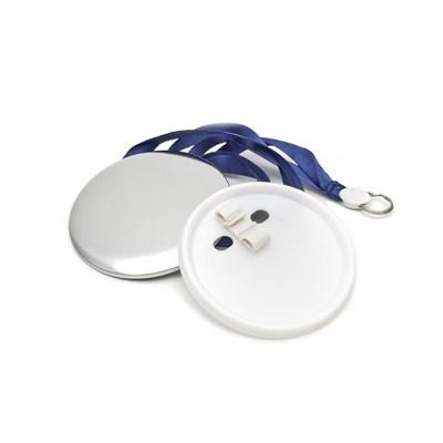 Медаль круглая с голубым шнурком 44 мм