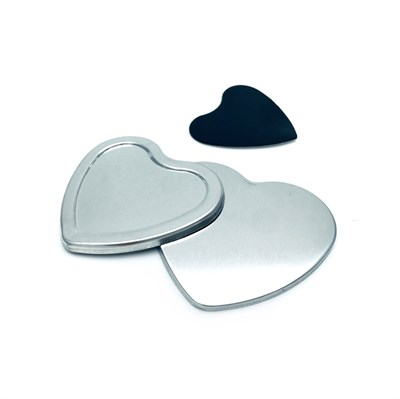 Заготовка закатного магнита 57*53 мм сердце