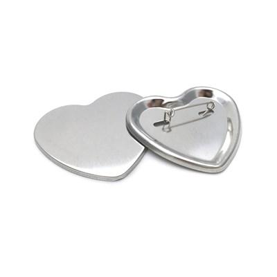 Заготовка значка сердце 57*53 мм