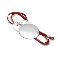 Медаль круглая с красным шнурком 75 мм